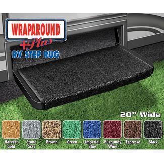 Wraparound Plus RV Step Rug - Black, 20