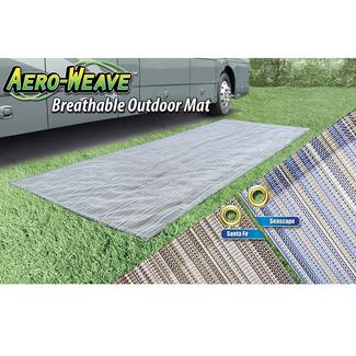 Prest-O-Fit Aero-Weave Breathable Outdoor Mat, 7.5&#x27&#x3b; x 20&#x27&#x3b;, Seascape