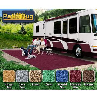 Prest-O-Fit Patio Rug 6' x 15', Burgundy Wine