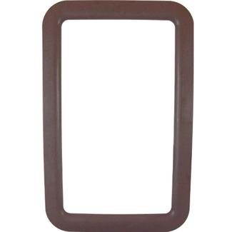 RV Entrance Door Window Frames - Exterior Brown