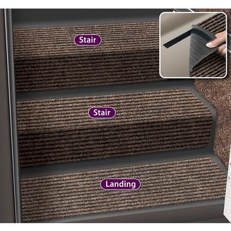 Decorian 10 Inch Step Hugger Landing Rug - Sierra Brown