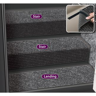 Decorian 13.5 Inch Step Huggers for Stairs - Black Granite