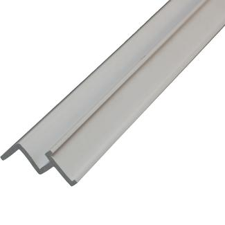"Ceiling Track for Snap Tape - 96"" White"