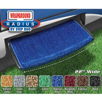Wraparound Radius Step Rugs - Imperial Blue, 22