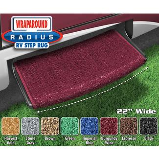 Wraparound Radius Step Rugs - Burgundy Wine, 22