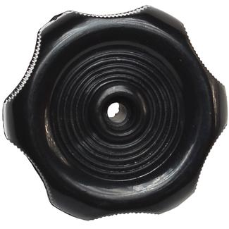 Black Window Knob - 1/2