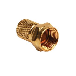 Gold Cable Connector for RG6 Cable