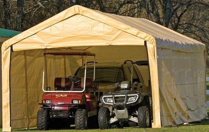 12' x 26' Canopy Enclosure Kit, Tan