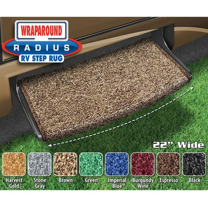 Wraparound Radius Step Rugs - Brown