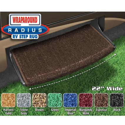 Prest-O-Fit Wraparound Radius RV Step Rug, 22