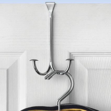 Over the Door Chrome Double-Hook