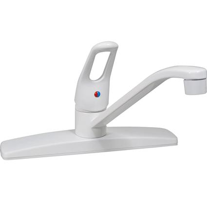 White Finish Single Lever Kitchen Faucet