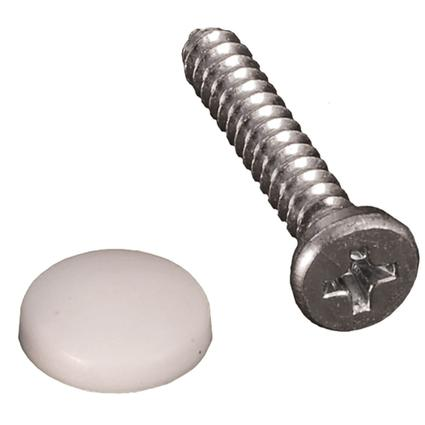 Dashboard Screws with Caps - White