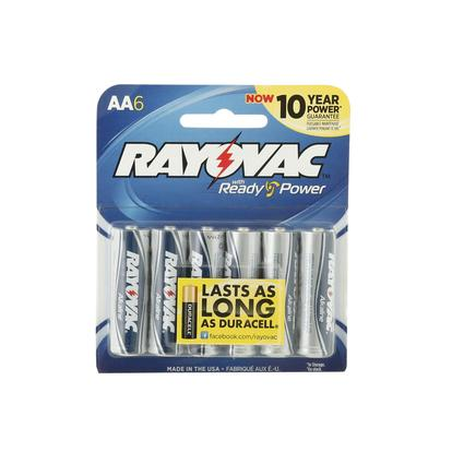 Rayovac AA Batteries, 6-pack