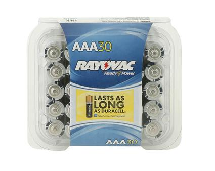 Rayovac AAA Batteries, 30-pack