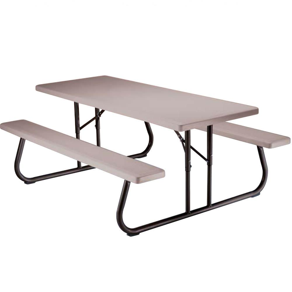 Folding Picnic Table 6 Foot Putty Lifetime 22119 Picnic Tables Camping World