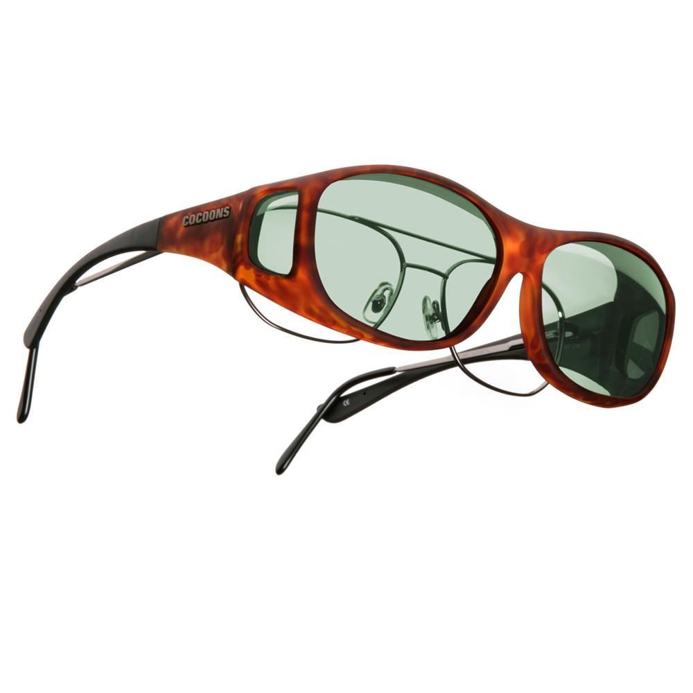cocoons overx sunglasses slim line medium tortoise