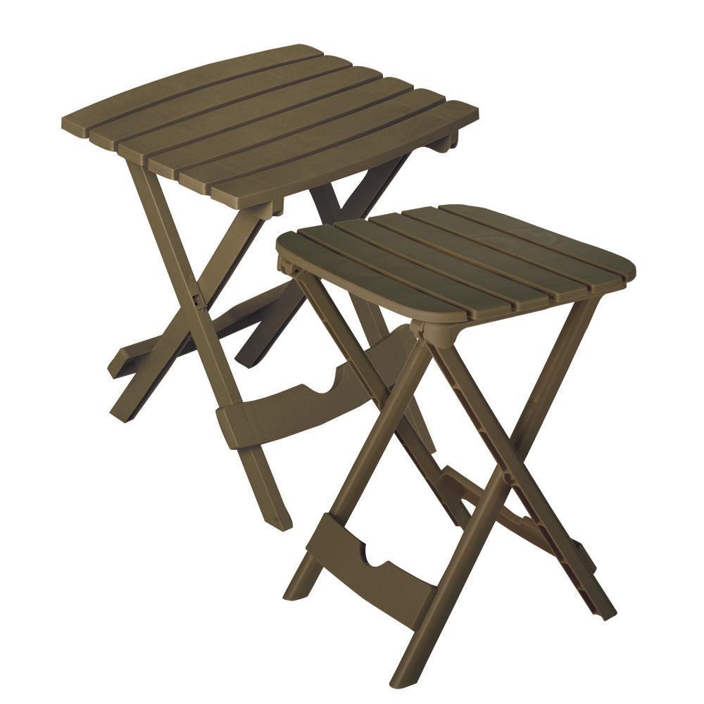 Quik Fold Table Set Brown Adams 8592 09 4730 Folding