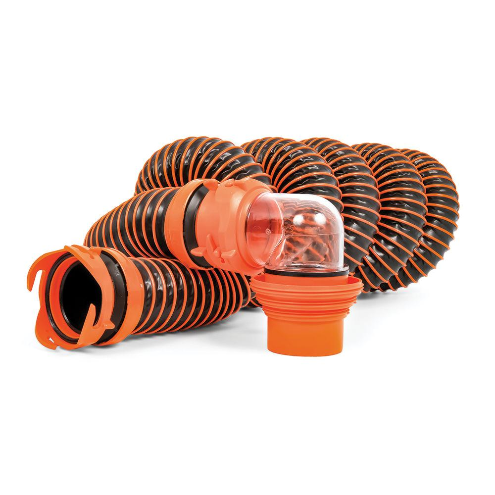 rhino extreme sewer hose kit 15 camco 39861 sewer hoses