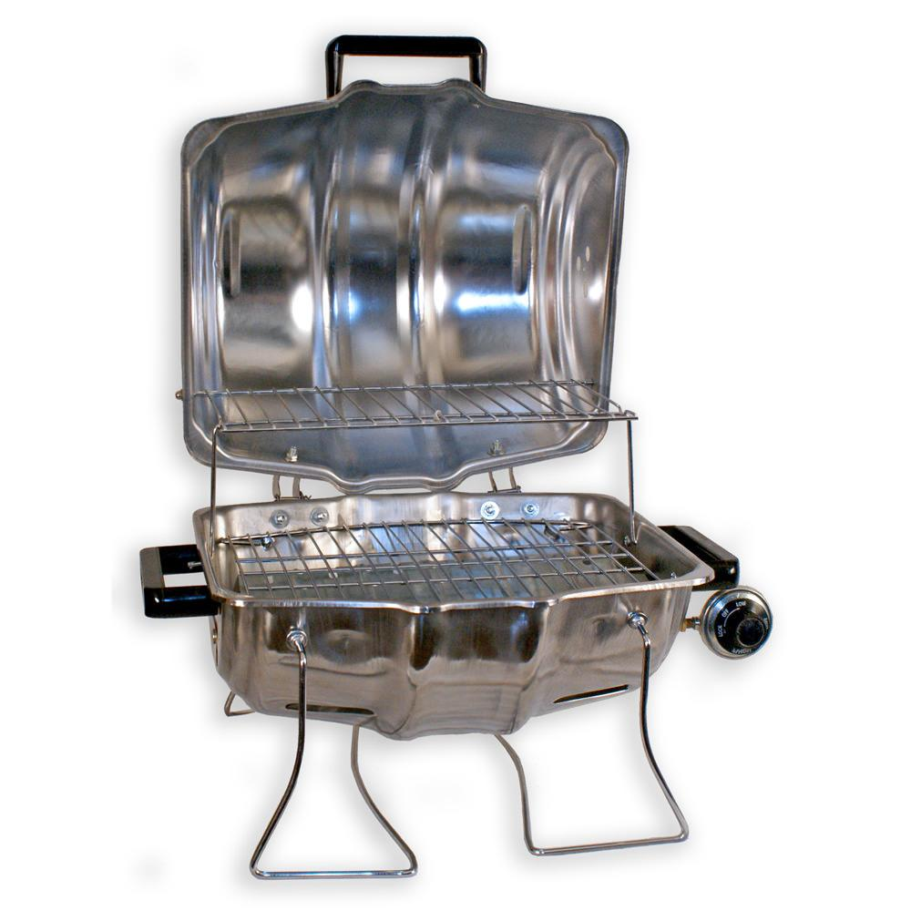 Keg a que portable stainless steel propane grill