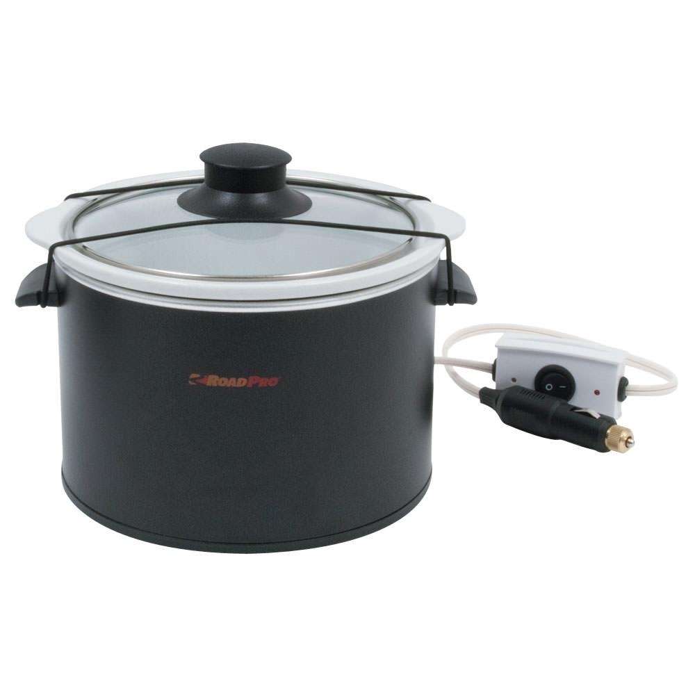 12 Volt Cooking Appliances ~ Volt slow cooker quart roadpro rpsl