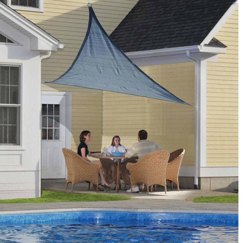 shadelogic sun shade sail triangle sea shelterlogic 25733 shades camping world. Black Bedroom Furniture Sets. Home Design Ideas