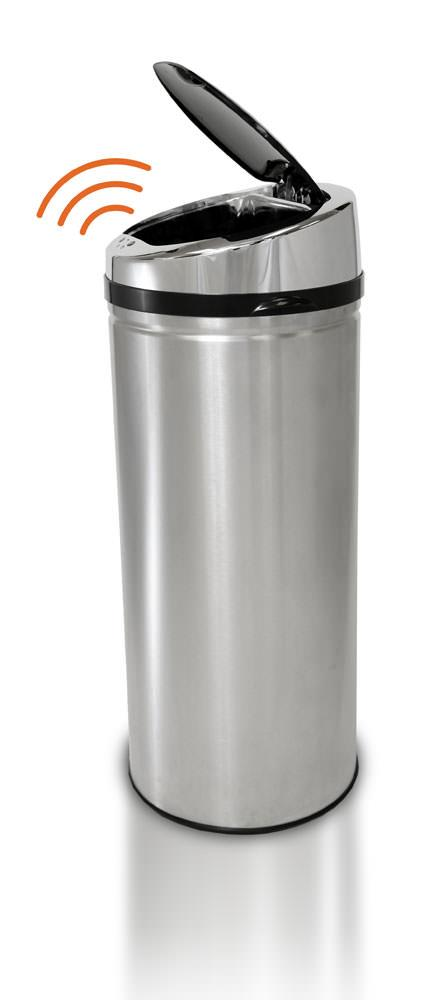 Itouchless Kitchen Size Automatic Stainless Steel Touchless Trash Can Designed To Fit 13 Gallon