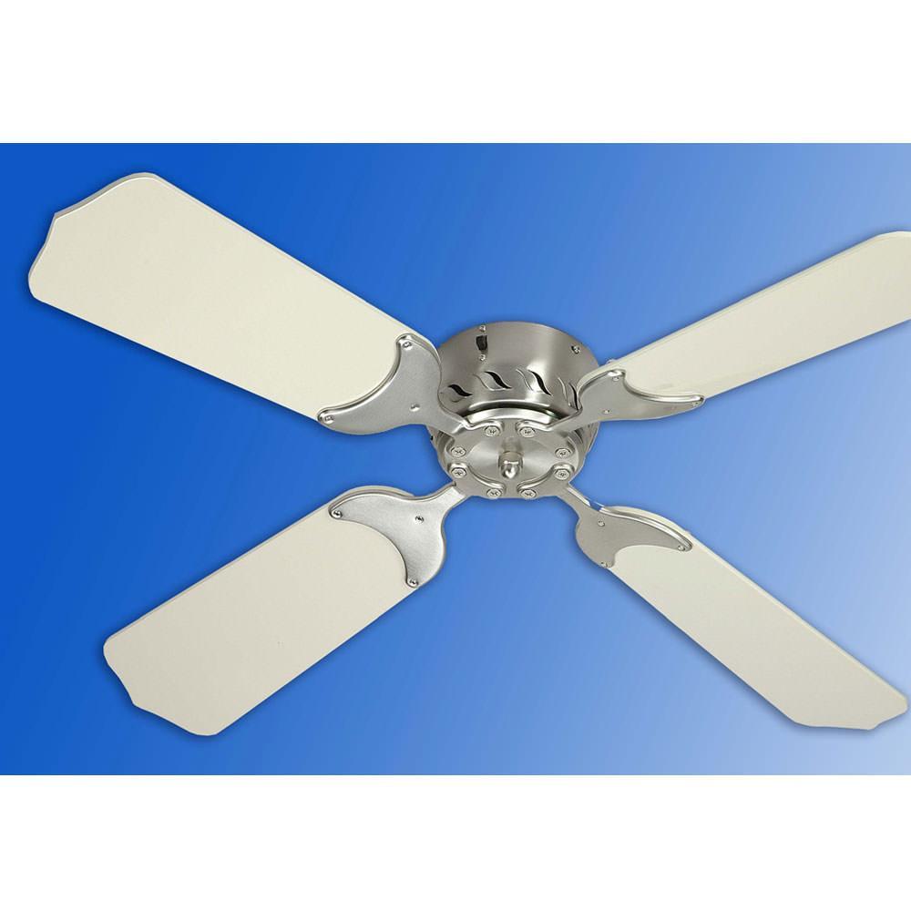 """36"""" 12v ceiling fan - satin nickel/white - trusty 70058nw - fans"""