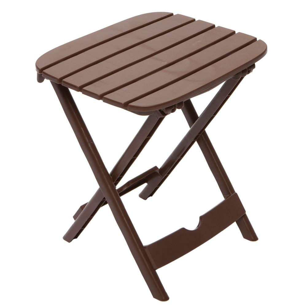 Quik fold tag along table brown adams 8520 60 3731 for Table camping