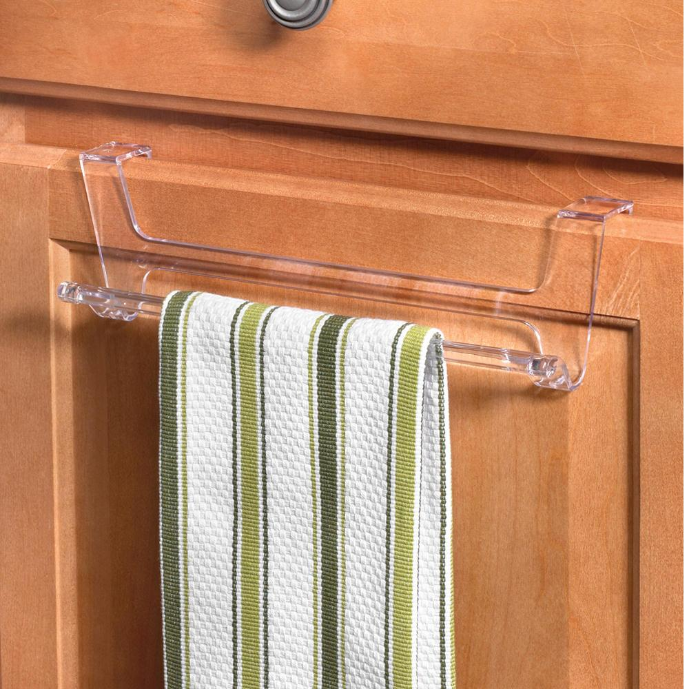 Clear Hook Over Cabinet/Drawer Towel Rack - Spectrum