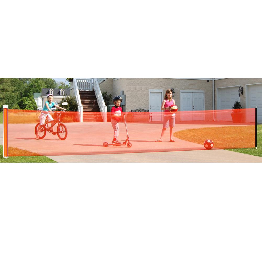 Retractable Driveway Safety Net 25 Ft Kidkusion 4725