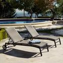 ZEN Chaise Lounger with Bolster Pillow 2 pack Patio Furniture