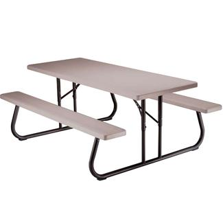 Folding Picnic Table – 6 foot, Putty