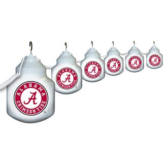 Collegiate Patio Globe Lights, 6 light set - Alabama