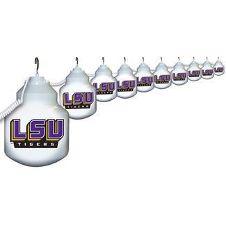Collegiate Patio Globe Lights, 10 light set - LSU