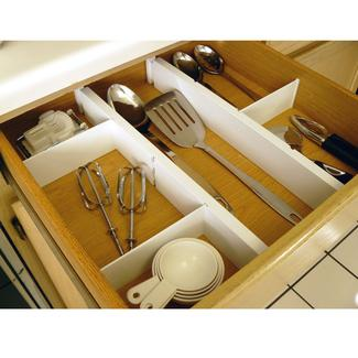 Plastic Kitchen Drawer Dividers, Set of 5