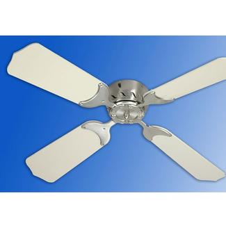36 12V Ceiling Fan - Satin Nickel/White