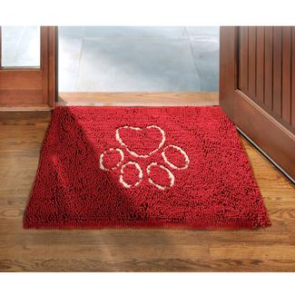 Dirty Dog Doormat- Maroon