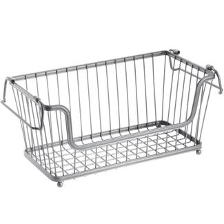 Stackable Pantry Baskets- Silver