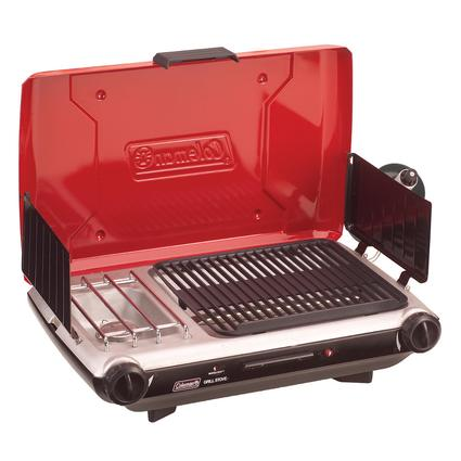 Coleman Red Two Burner Electronic Ignition Propane Grill Stove