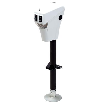 3500lb Electric Tongue Jack - White