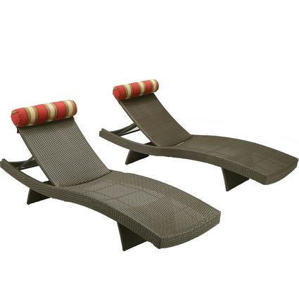 Cantina Wave Chaise Lounger, Set of 2