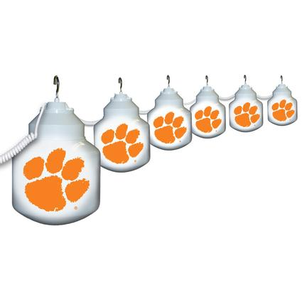 Collegiate Patio Globe Lights, 6 light set - Clemson
