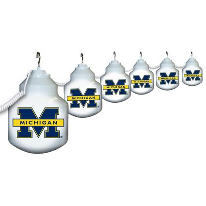 Collegiate Patio Globe Lights, 6 light set - Michigan
