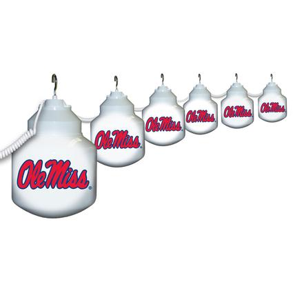 Collegiate Patio Globe Lights, 6 light set - Ole Miss