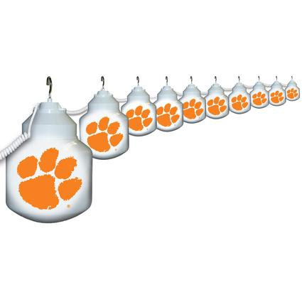 Collegiate Patio Globe Lights, 10 light set - Clemson