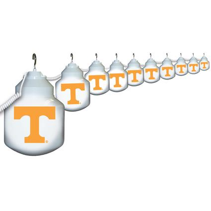 Collegiate Patio Globe Lights, 10 light set - Tennessee