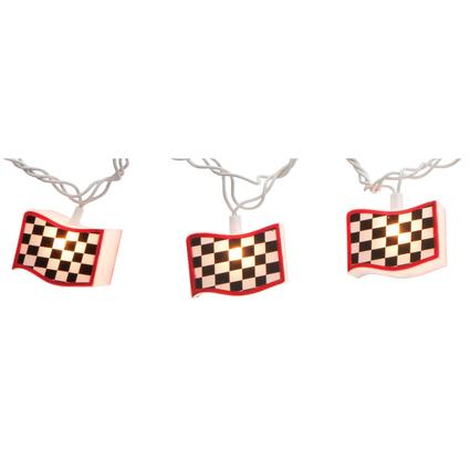 Checkered Flag Patio Light Set