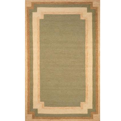 Ravella Rug - Border Design - 8' Square, Green