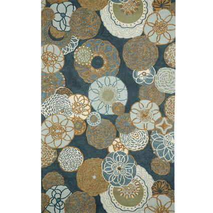Ravella Rug, Disco Design - 8' Round, Denim